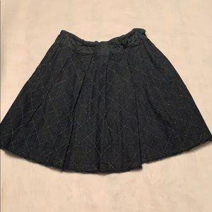 Anthropologie paperbag waist denim skirt